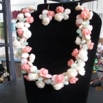 Wire necklaces - Coral Roses for flowers