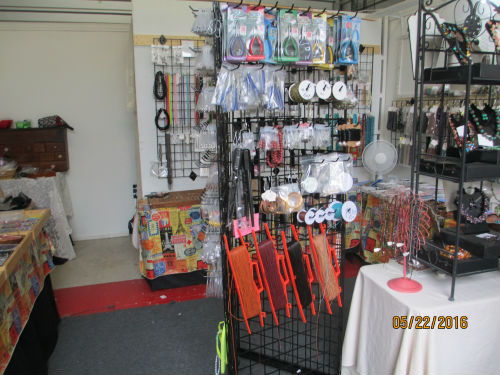 view of third side of display rack.
