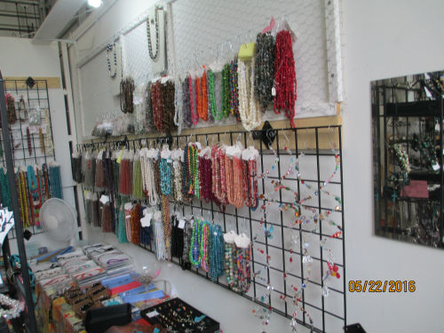view of semi-precious stones located on right side of Bead and Jewelry Store at Traders Village - San Antonio