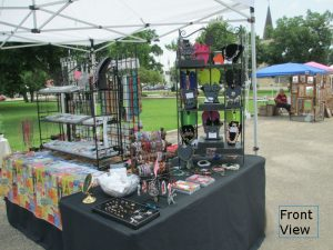 View of my booth from the front corner - Castroville Market Days