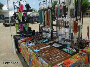 left side of booth - Castroville Market Days