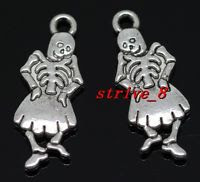 day of dead charm - dancing girl skeleton
