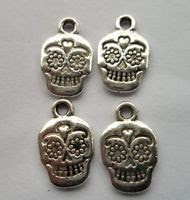 day of dead charms - sugar skull charm