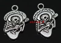day of dead charm - skull with guitar