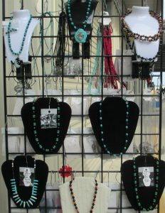 single stranded turquoise and onyx necklaces