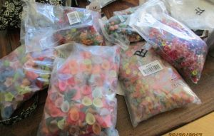 bags of acrylic flowers