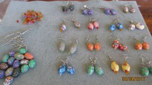 image of cascarone earrings using polymer clay beads